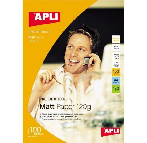 Papier photo mat 120gr A4 100f. APLI