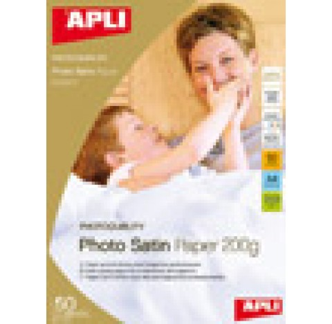 Papier photo satin pro 200gr A4 20f.APLI