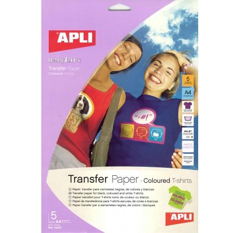 Transfert tshirt foncé 5f.A4 APLI