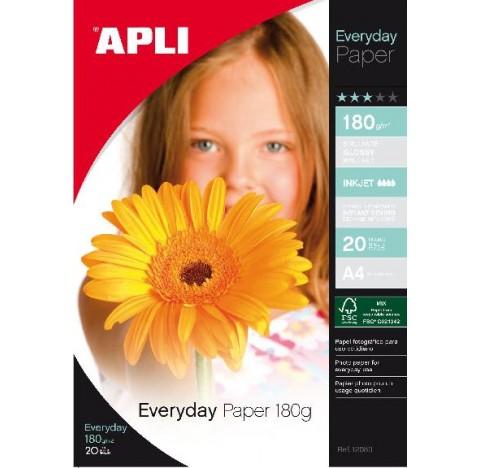 Papier every day A4 180gr 20 feuilles APLI
