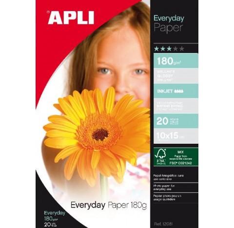 Papier every day 10x15 180gr 20 feuilles APLI