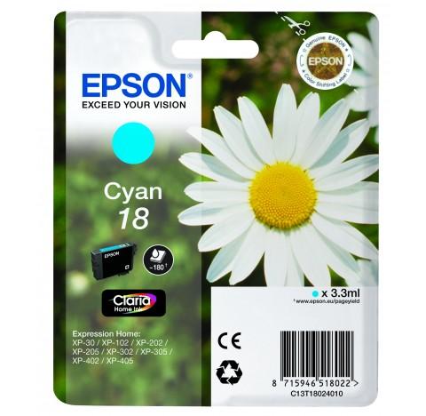 EPSON CARTOUCHE JET D'ENCRECYAN 18 C13T18024010