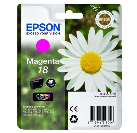 EPSON CARTOUCHE JET D'ENCREMAGENTA 18  C13T18034010