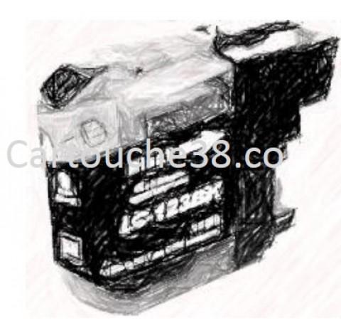 CARTOUCHE COMPATIBLE LC123XL NOIR 20ML