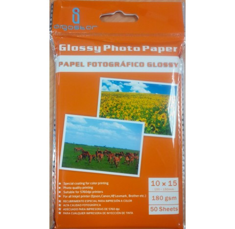 Papier photo JET 180gr 10x15 50feuill. brillant