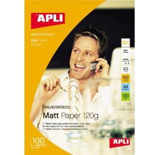 Papier photo mat 120gr A4 100f. APLI