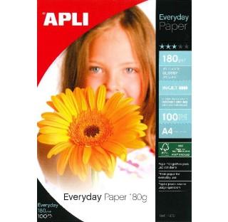 Papier photo everyday 180gr A4 100f. APLI