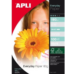 Papier photo everyday 180gr 10X15 100f. APLI