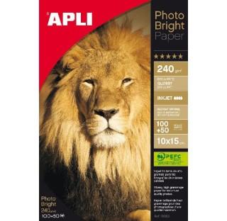 Papier photo bright pro 240gr 10X15 150f.APLI
