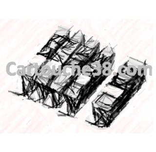 Pack 5 cart.compat.Canon 551 BK/C/M/J + 550 GT